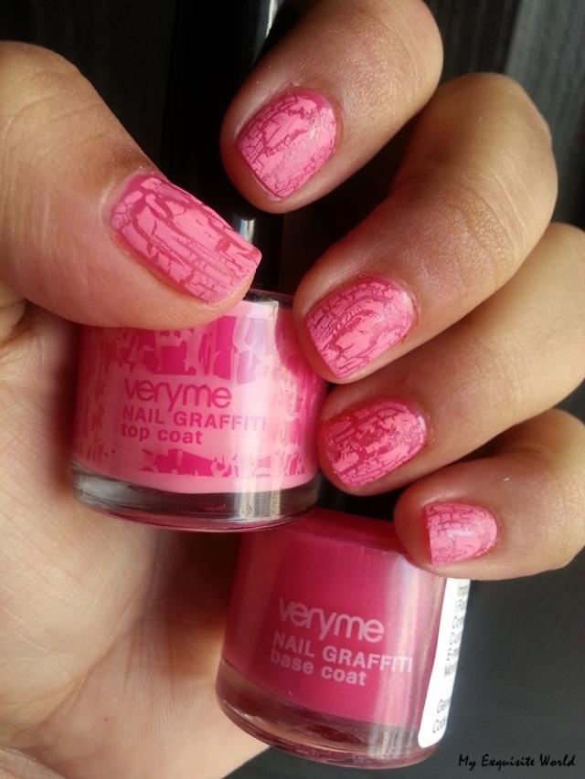 base coat-pink,top coat-pink