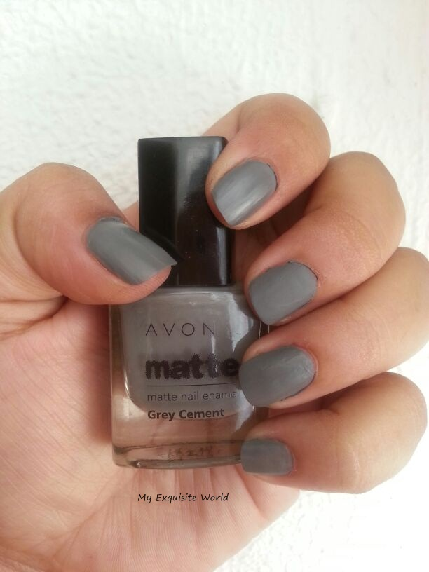 avon matte nail enamel-grey cement | My Exquisite World