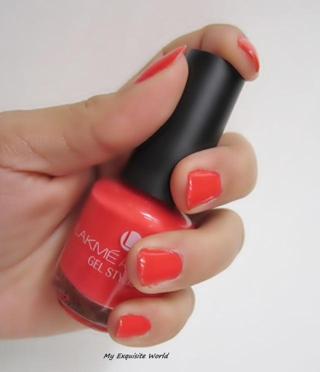 Gel Nail Polish Lakme: Lakme Gel Stylist Coral Crush Nail Polish