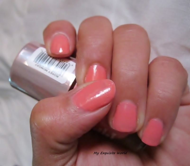 Lakme 9 To 5 Long Wear Nail Color Rosey Monday Review NOTD
