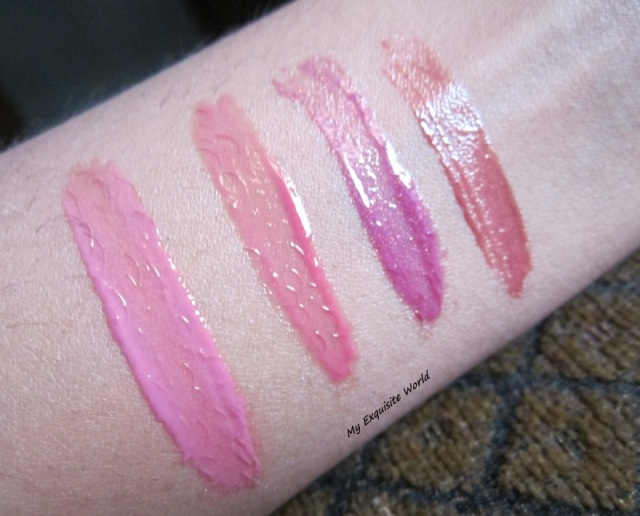 L-R: Maybelline Electric  shock,Bourjois Effect 4D,MAC mall madness,maybelline Plumtastic