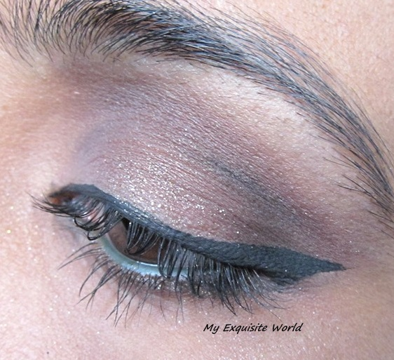 used Pop champagne on the lids,diva in the outer corner,coco brown to darken the crease,midnight star in the lower eyes