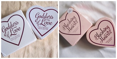 Left: Goddess of Love Right: Iced Heart